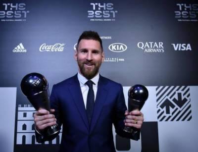 لیونل میسی نے بیسٹ فیفا فٹ بال پلیئر کا ایوارڈ جیت لیا
