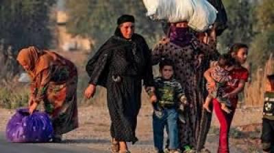 شام میں ترک آپریشن کے بعد دس ہزار افراد بے گھر
