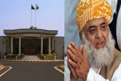 اسلام آباد ہائیکورٹ:فضل الرحمن کے دھرنے کیخلاف دائر درخواستوں کو نمٹا دیاگیا