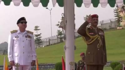 عمان کی مسلح افواج کے سربراہ کا نیول ہیڈ کوارٹرز اسلام آباد کا دورہ
