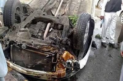 لیہ میں تیز رفتار گاڑی کو حادثہ،6 افراد جاں بحق