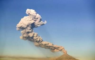 میکسیکو میں آتش فشاں پھٹ گیا،دھوئیں کا اخراج