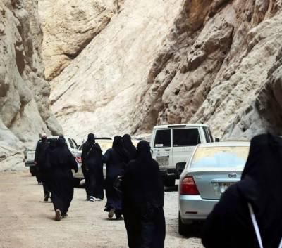 سعودی خواتین سیاحوں کے پہلے وفد کی آمد