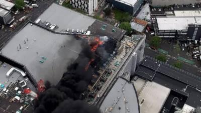 نیوزی لینڈ کے شہر آکلینڈ میں زیر تعمیر کنونشن سنٹر میں آتشزدگی،1 شخص لاپتہ، دوسرا شدید زخمی