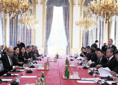 چینی وزیر خارجہ کی چین فرانس تہذیبی مکالمے کی تقریب میں شرکت