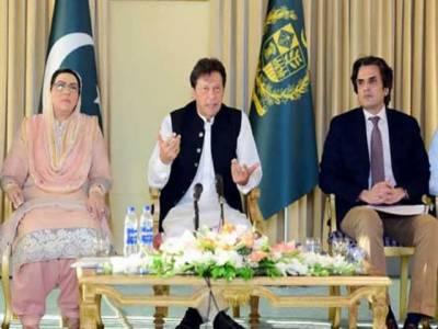 وزیراعظم عمران خان سے سینر اینکرزکی ملاقات،فضل الرحمان کے مارچ پر بھارت میں جشن منایا جارہا ہے،منتخب وزیراعظم ہوں،استعفیٰ نہیں دوں گا: وزیراعظم عمران خان