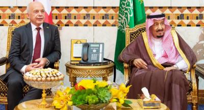 محمد بن سلمان کی سوئس صدر کے ساتھ مشترکہ تعاون پر بات چیت