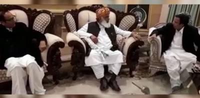 چودھری پرویزالہی کی مولانا فضل الرحمان سے ملاقات، حکومت سے مذاکرات پر بات چیت