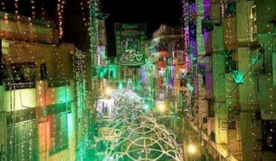 کراچی میں بھی جشن عید میلاد النبیﷺ کی تیاریاں عروج پر، فضا رنگ و نور سے روشن
