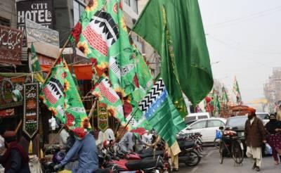 ملک بھر میں جشن عید میلاد النبی کی تیاریاں عروج پر،ہر سو درودو سلام کی صدائیں