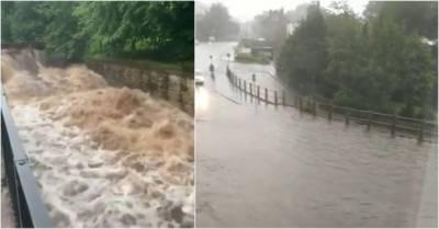 مانچسٹر : شدید بارشوں کی لپیٹ میں,مزید بارشوں کی پیشگوئی