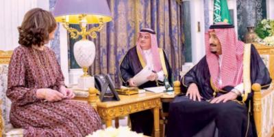شاہ سلمان سے امریکی سی آئی اے کی سربراہ کی ملاقات، باہمی دلچسپی کے امور پر تبادلہ خیال