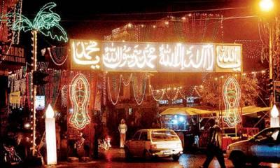 جشن عید میلادالنبی مذہبی کل عقیدت و احترام سے منائی جائے گی