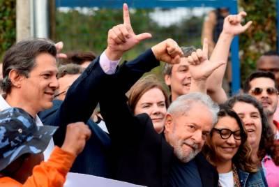 سابق برازیلی صدر لولا ڈا سلوا کو رہا کر دیا گیا،رہائی پر شانداراستقبال
