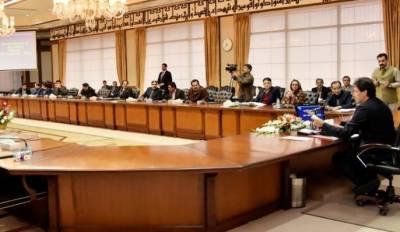 وزیراعظم کی زیر صدارت وفاقی کابینہ کا اجلاس جاری