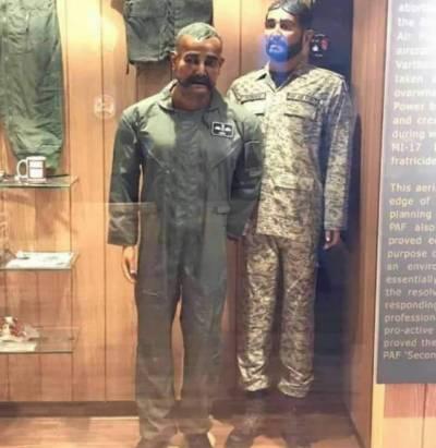 کراچی میں ابھی نندن کی ڈمی پی اے ایف میوزیم میں نصب