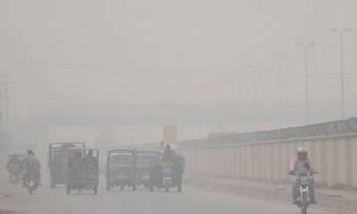 لاہور پھر سموگ نے لپیٹ میں