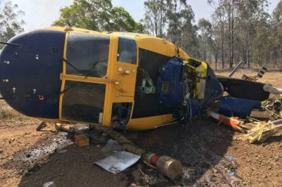 آسٹریلیا: جنگلات میں لگی آگ بُجھانے کی کوششوں میں مصروف ہیلی کاپٹر گر کر تباہ