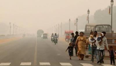 نئی دہلی میں فضائی آلودگی برقرار