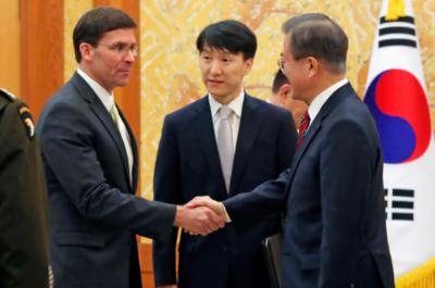 کوریا کے خلاف برآمدی پابندیوں کی صورت جاپان سے خفیہ معلومات کا تبادلہ مشکل ہے،صدر مون جے ان
