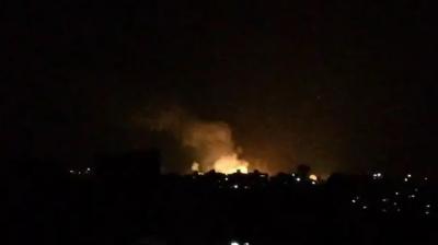 اسرائیلی طیاروں کی شام میں اسد رجیم اور ایرانی مراکز پر بمباری