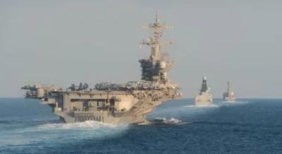 ایران کے ساتھ کشیدگی کے جلومیں امریکی بحری بیڑے کا آبنائے ہرمز سے سفر