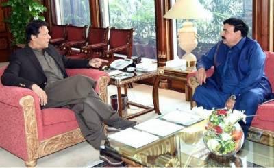 وزیراعظم عمران خان سے وفاقی وزیر ریلوے شیخ رشید احمدکی ملاقات