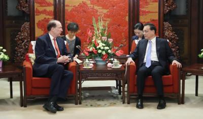 چینی وزیر اعظم کی عالمی بینک کے صدر سے ملاقات