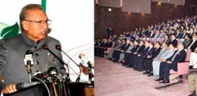 سی پیک سے ملک میں تجارت اور سرمایہ کاری کے نئے مواقع پیدا ہوں گے. صدر ڈاکٹر عارف علوی