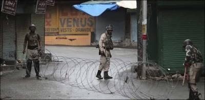 مقبوضہ کشمیر میں پیر کو120ویں روز بھی فوجی محاصرہ اور دیگر پابندیاں بدستور جاری رہیں