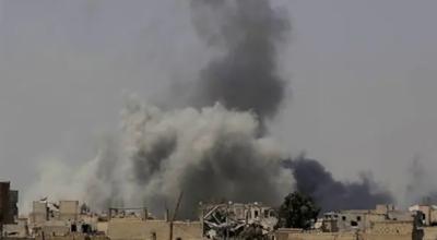 شام میں ایرانی پاسداران انقلاب کے اسلحہ ڈپو پر نامعلوم طیاروں کی بمباری