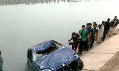 میانوالی:گاڑی نہر میں جا گری،ایک ہی خاندان کے 7 افراد ڈوب گئے