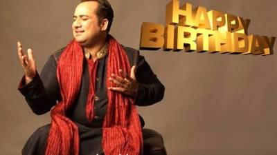 راحت فتح علی خاں نے اپنی 45 ویں سالگرہ منائی
