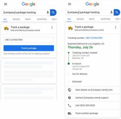 گوگل کے سرچ انجن میں نئے فیچر 'ٹریک پیکج' کی آزمائش شروع