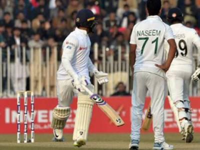 راولپنڈی ٹیسٹ،5وکٹوں کے نقصان پر سری لنکا کے 202رنز