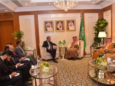 وزیر خارجہ شاہ محمود قریشی کی سعودی ہم منصب سے ملاقات، مقبوضہ کشمیر کی صورتحال،علاقائی و عالمی اہمیت کے امور پر تبادلہ خیال