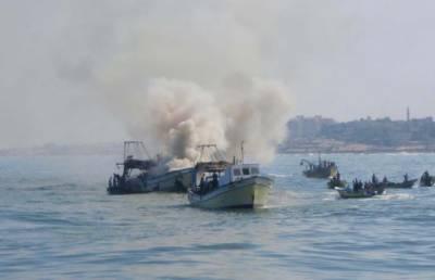 اسرائیلی بحریہ کا غزہ کے شمالی سمندر میں ماہی گیروں پر حملہ