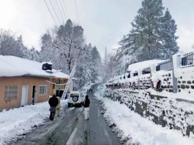 خیبرپختونخوا کے بالائی علاقوں میں برف باری کا سلسلہ جاری،سردی کی شدت بڑھ گئی