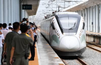 چین کے جنوب مغربی صوبے میں تیز رفتار ریل سروس شروع
