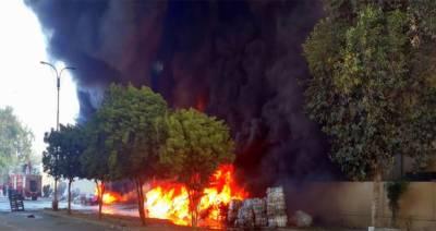 کراچی،لانڈھی ایکسپورٹ پروسیسنگ زون میں پلاسٹک فیکٹری میں آتشزدگی،لاکھوں روپے کا نقصان