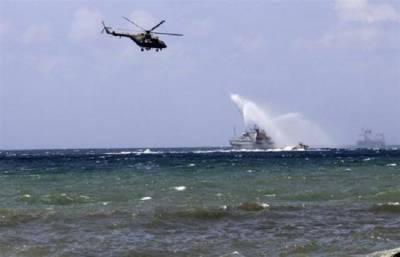 بحیرہ روم کے مشرق میں روس اور شام کی مشترکہ بحری تربیتی مشقیں
