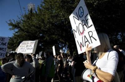 امریکی شہروں میں جنگ کے خلاف مظاہرے،فوجیں واپس بلانے کا مطالبہ