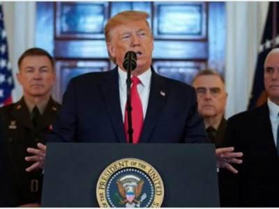 ایران کے میزائل حملے میں کوئی جانی نقصان نہیں ہوا،ایران پر نئی اور سخت معاشی پابندیا ں عائد کریں گے: ڈونلڈ ٹرمپ
