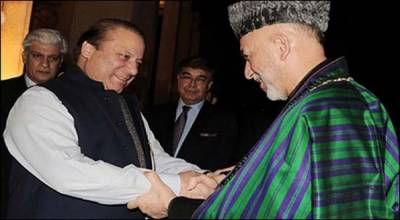 سابق افغان صدر حامد کرزئی کی میاں نواز شریف سے ملاقات