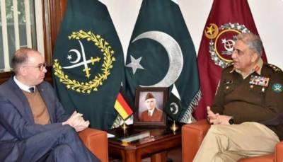 آرمی چیف جنرل قمر جاوید باجوہ سے جرمنی کے وزیر مملکت خارجہ امور کی ملاقات