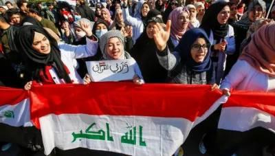 وسطی عراق میں مظاہرین اور سیکیورٹی فورسز کے درمیان جھڑپیں