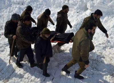 مقبوضہ کشمیر میں تین بھارتی فوجیوں سمیت آٹھ افراد برف کے تودے کے نیچے دب کرہلاک
