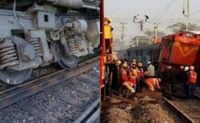 بھارت ٹرین حادثہ ، 40 مسافر زخمی ، ممبئی بھوونشیور ایکسپریس کے 8 مسافر ڈبے پٹڑی سے اتر گئے