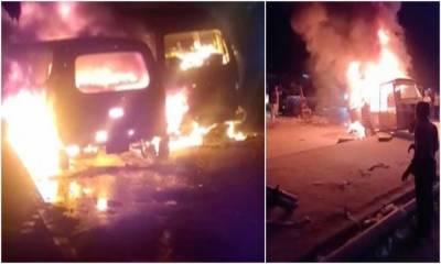کراچی: گاڑی میں آتشزدگی کا ایک اور زخمی چل بسا، تعداد 10 ہوگئی