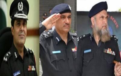 آئی جی سندھ کی تبدیلی: وفاق نے امیر شیخ، غلام نبی، آفتاب پٹھان کے نام دے دئیے